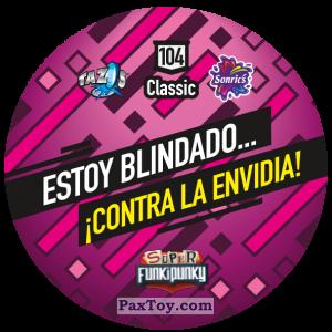 PaxToy.com - Фишка / POG / CAP / Tazo 104 Stinky (Сторна-back) из Gamesa: Super Funki Punky