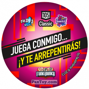 PaxToy.com - Фишка / POG / CAP / Tazo 105 Ema (Сторна-back) из Gamesa: Super Funki Punky
