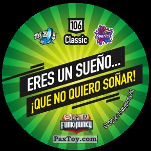 PaxToy.com - Фишка / POG / CAP / Tazo 106 Bunnie (Сторна-back) из Gamesa: Super Funki Punky