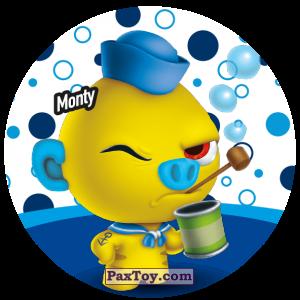 PaxToy.com  Фишка / POG / CAP / Tazo 107 Monty из Gamesa: Super Funki Punky