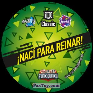 PaxToy.com - Фишка / POG / CAP / Tazo 108 Dot (Сторна-back) из Gamesa: Super Funki Punky