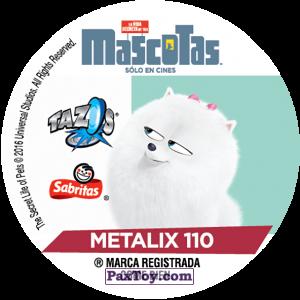 PaxToy.com - Фишка / POG / CAP / Tazo 110 Alitas (METAL) (Сторна-back) из Cheetos: La Vida Secreta De Tus Mascotas