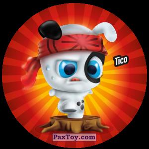 PaxToy.com  Фишка / POG / CAP / Tazo 110 Tico из Gamesa: Super Funki Punky