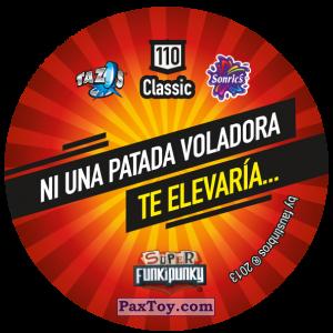 PaxToy.com - Фишка / POG / CAP / Tazo 110 Tico (Сторна-back) из Gamesa: Super Funki Punky