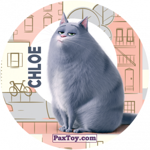 PaxToy.com  Фишка / POG / CAP / Tazo 111 Chloe (METAL) из Cheetos: La Vida Secreta De Tus Mascotas