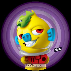PaxToy.com  Фишка / POG / CAP / Tazo 113 Monty из Gamesa: Super Funki Punky