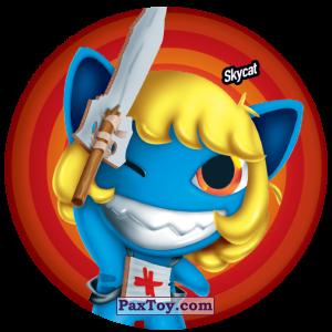 PaxToy.com  Фишка / POG / CAP / Tazo 117 Skycat из Gamesa: Super Funki Punky
