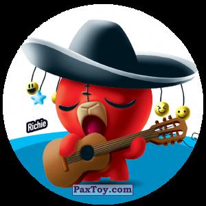 PaxToy.com  Фишка / POG / CAP / Tazo 118 Richie из Gamesa: Super Funki Punky