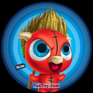 PaxToy.com  Фишка / POG / CAP / Tazo 119 Richie из Gamesa: Super Funki Punky