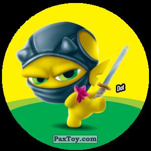 PaxToy.com  Фишка / POG / CAP / Tazo 121 Dot из Gamesa: Super Funki Punky