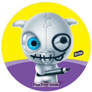 PaxToy.com  Фишка / POG / CAP / Tazo 122 Richie из Gamesa: Super Funki Punky