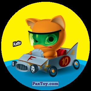 PaxToy.com  Фишка / POG / CAP / Tazo 128 Katto из Gamesa: Super Funki Punky
