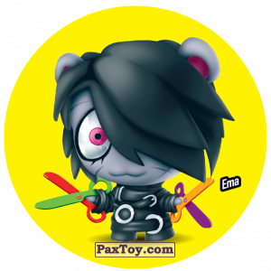 PaxToy.com  Фишка / POG / CAP / Tazo 129 Ema из Gamesa: Super Funki Punky