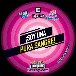 PaxToy.com - Фишка / POG / CAP / Tazo 130 Bunnie (Сторна-back) из Gamesa: Super Funki Punky