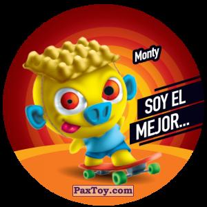PaxToy.com  Фишка / POG / CAP / Tazo 131 Monty из Gamesa: Super Funki Punky