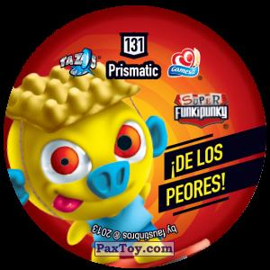 PaxToy.com - Фишка / POG / CAP / Tazo 131 Monty (Сторна-back) из Gamesa: Super Funki Punky