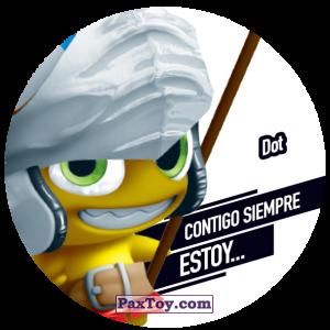PaxToy.com  Фишка / POG / CAP / Tazo 133 Dot из Gamesa: Super Funki Punky