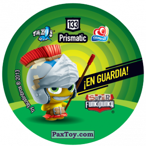 PaxToy.com - Фишка / POG / CAP / Tazo 133 Dot (Сторна-back) из Gamesa: Super Funki Punky