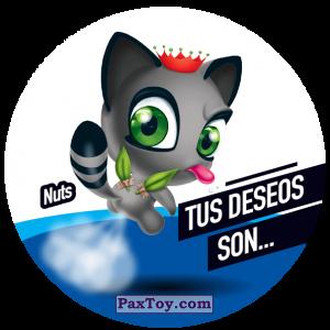 PaxToy.com  Фишка / POG / CAP / Tazo 134 Nuts из Gamesa: Super Funki Punky