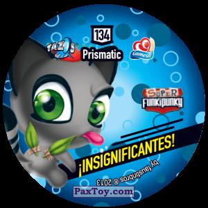 PaxToy.com - Фишка / POG / CAP / Tazo 134 Nuts (Сторна-back) из Gamesa: Super Funki Punky
