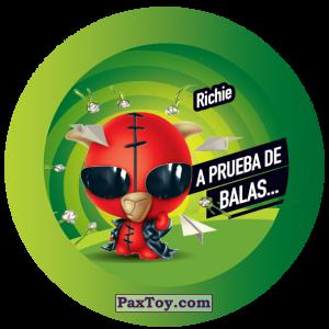 PaxToy.com  Фишка / POG / CAP / Tazo 135 Richie из Gamesa: Super Funki Punky