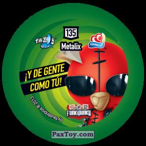 PaxToy.com - Фишка / POG / CAP / Tazo 135 Richie (Сторна-back) из Gamesa: Super Funki Punky