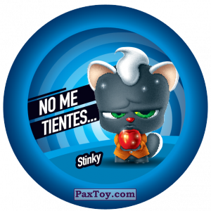 PaxToy.com  Фишка / POG / CAP / Tazo 136 Stinky из Gamesa: Super Funki Punky