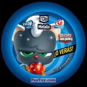 PaxToy.com - Фишка / POG / CAP / Tazo 136 Stinky (Сторна-back) из Gamesa: Super Funki Punky
