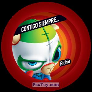 PaxToy.com  Фишка / POG / CAP / Tazo 137 Richie из Gamesa: Super Funki Punky