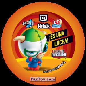 PaxToy.com - Фишка / POG / CAP / Tazo 137 Richie (Сторна-back) из Gamesa: Super Funki Punky