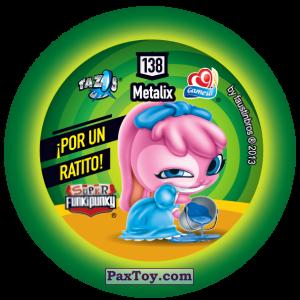 PaxToy.com - Фишка / POG / CAP / Tazo 138 Bunnie (Сторна-back) из Gamesa: Super Funki Punky