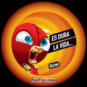PaxToy.com  Фишка / POG / CAP / Tazo 139 Richie из Gamesa: Super Funki Punky