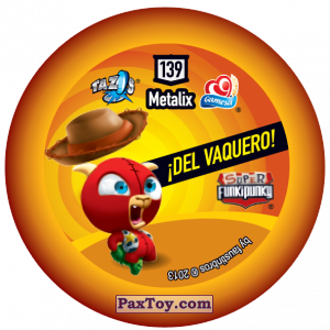 PaxToy.com - Фишка / POG / CAP / Tazo 139 Richie (Сторна-back) из Gamesa: Super Funki Punky