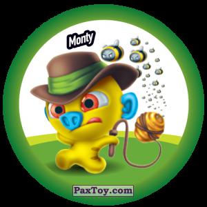 PaxToy.com  Фишка / POG / CAP / Tazo 143 Monty из Gamesa: Super Funki Punky