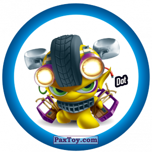 PaxToy.com  Фишка / POG / CAP / Tazo 146 Dot из Gamesa: Super Funki Punky