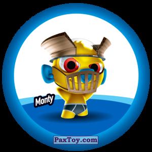 PaxToy.com  Фишка / POG / CAP / Tazo 148 Monty из Gamesa: Super Funki Punky