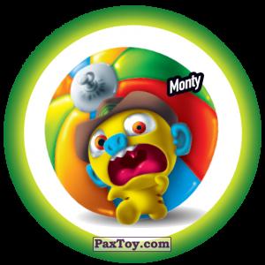 PaxToy.com  Фишка / POG / CAP / Tazo 149 Monty из Gamesa: Super Funki Punky