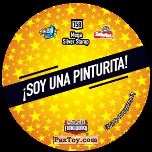 PaxToy.com - Фишка / POG / CAP / Tazo 158 Bonnie (Сторна-back) из Gamesa: Super Funki Punky