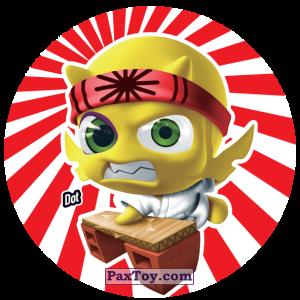 PaxToy.com  Фишка / POG / CAP / Tazo 160 Dot из Gamesa: Super Funki Punky