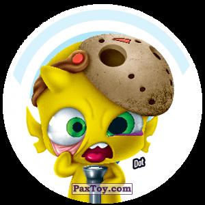 PaxToy.com  Фишка / POG / CAP / Tazo 164 Dot из Gamesa: Super Funki Punky