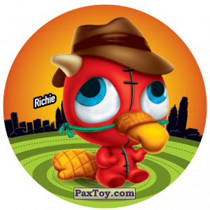 PaxToy.com  Фишка / POG / CAP / Tazo 166 Richie из Gamesa: Super Funki Punky