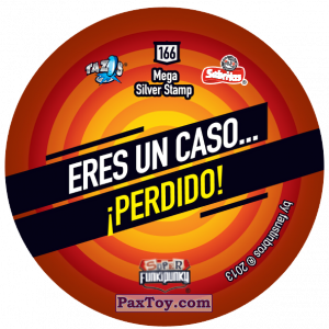 PaxToy.com - Фишка / POG / CAP / Tazo 166 Richie (Сторна-back) из Gamesa: Super Funki Punky