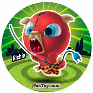 PaxToy.com  Фишка / POG / CAP / Tazo 169 Richie из Gamesa: Super Funki Punky