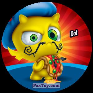 PaxToy.com  Фишка / POG / CAP / Tazo 174 Dot из Gamesa: Super Funki Punky