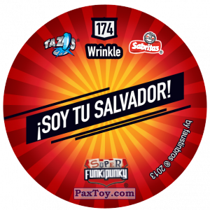 PaxToy.com - Фишка / POG / CAP / Tazo 174 Dot (Сторна-back) из Gamesa: Super Funki Punky