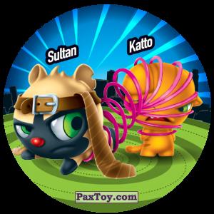 PaxToy.com  Фишка / POG / CAP / Tazo 175 Sultan & Katto из Gamesa: Super Funki Punky