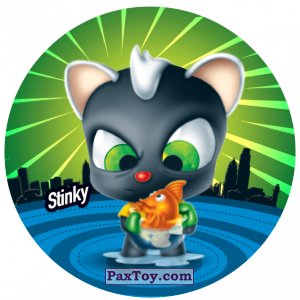 PaxToy.com  Фишка / POG / CAP / Tazo 179 Stinky из Gamesa: Super Funki Punky