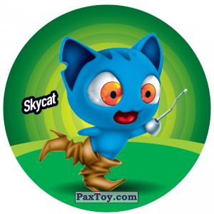 PaxToy.com  Фишка / POG / CAP / Tazo 180 Skycat из Gamesa: Super Funki Punky