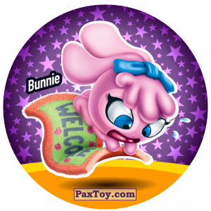 PaxToy.com  Фишка / POG / CAP / Tazo 181 Bunnie из Gamesa: Super Funki Punky
