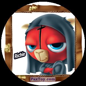 PaxToy.com  Фишка / POG / CAP / Tazo 184 Richie из Gamesa: Super Funki Punky